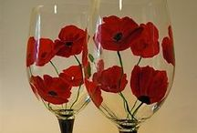 painted wine glasses / ideas for hand painted wine glasses