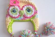 crochet baby hats...cute / hand made hats for babies....and shoes