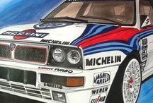 Lancia delta + 037 racing + Ypsilon