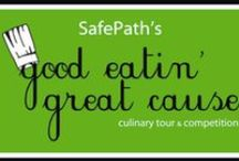 """Good Eatin' Great Cause ...a SafePath Culinary Tour & Competition / Join host, Chef Alex Reethof, and presenting sponsor, Jim Taylor from Balfour Beatty Construction, for a wonderful interactive evening with local celebrity chefs who will serve as mentors in a judged cook-off competition. Be a part of an entertaining and energetic event with incredible food, great company, and an amazing """"cooking related"""" auction. The time is now, the event is set, and the ingredient we need most is you! Invest in the future of our children by supporting SafePath."""