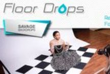Floor / Wall Backdrops / All Savage Floor Drops come in two sizes—5' x 7' and 8' x 8'. The smaller size offers more portability and is ideal for many product shots as well as three-quarter and headshots. Need to shoot full length? Opt for 8' x 8'. All are printed on rubber and sport a polyester finish on the print side, which makes them durable, easy to walk on, and easy to roll up for storage.