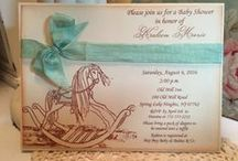 Baby Shower Invitations / Baby Shower Invitations, baby boy, baby girl invitations, party invitations, teddy bear party, rocking horse party invitation, Stork Invitations, nautical invitations
