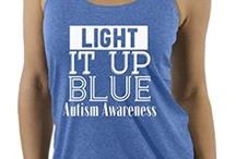 Autism Awareness Items / Autism Awareness Clothing, Ribbons, Wristbands and much more.