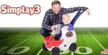 Are you Ready for Some Football?! / Stroll and show your home team colors with the Game Day Push About Helmet Ride-In Coupe made by Simplay3 for toddlers 9 months to 3 years old.