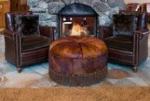 Ottomans / Unique Ottomans for the Rustic Living Room or Den / by High Camp Home (HCH)