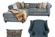 Denim / Casual and inviting, denim furniture and home decor adds a fresh look and feel to the home.  / by High Camp Home (HCH)