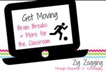 """Get Moving in the Classroom / Students need opportunities for brain breaks and movement all day long. Use these resources to keep kids active, and make classroom """"management"""" easier."""