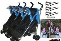 Triple Pushchairs / Our range of triple pushchairs designed for the modern day parent with three little lovelies.