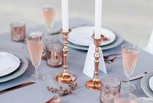 Rose Gold Weddings / rose gold wedding inpspiration