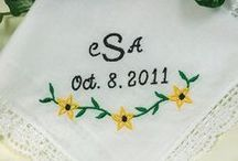Wedding Handkerchiefs Personalized Embroidered / Wedding Handkerchiefs Personalized for Bridal Bride, Groom, Mother and Father of Bride & Groom / by Li'l Inspirations - Wedding Handkerchiefs Personalized, Wedding Blankets & Baby Blankets Custom Made