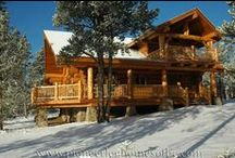 Log Home Living / My wish list for my dream home. So many to choose from - one day! / by Angela Thompson