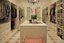 Closet Dreams / Big beautiful closets with space for everything. No matter how big, we never seem to have enough room, but if we don't with these closets, we're hopeless or pack rats :) / by Angela Thompson