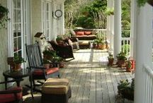 Relaxing Porches & Decks / Beautiful porches and decks. Large and small, country and city, charming and beautiful. / by Angela Thompson