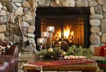 Fireplaces: Hearth and Home / Beautiful fireplace designs to spark your imagination. There is nothing as comforting as curling up in front of a fire. / by Angela Thompson