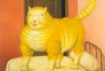 "contemporary art:  Botero /  ""An artist is attracted to certain kinds of form without knowing why. You adopt a position intuitively; only later do you attempt to rationalize or even justify it."" / by Cat Museum"
