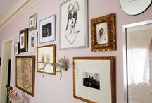 GALLERY WALLS / A Collection of Gallery Walls. Different styles, themes and configurations. Inspiration for your walls.