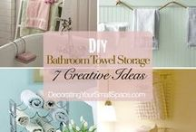 For The Bath / Ideas for your bathroom. Storage, accessories, design, and color. / by Angela Thompson