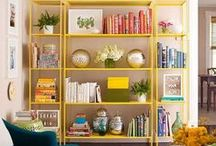 HOME: Bookcases / I'm an avid reader with tons of books. I love pretty bookcases and shelves to display them along with other objects. One day I will have a library in my home with walls of books. / by Angela Thompson
