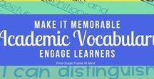 Academic Vocabulary / Critical Tier 2 Academic Vocabulary resources for Kindergarten, First Grade and beyond!
