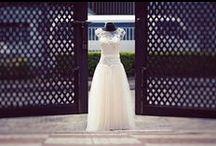 Fit & Flare & Drop Waist Wedding Dresses / Figure flattering fit and flare and drop waist wedding dresses for fashion-forward brides.