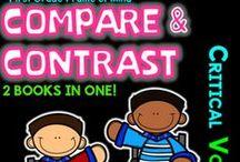 Compare and Contrast K-2 / critical vocabulary... Tier 2 vocabulary... academic vocabulary