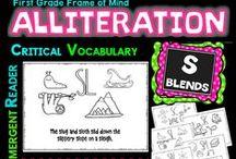 Alliteration K-2 / critical vocabulary... Tier 2 vocabulary... academic vocabulary