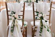 Chair Decor / The things we do to make simple things look better... #bermuda #weddings #bermudabride #petalsbermuda #love #chairs #decoration