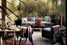 Homes I Outdoor Lounging Area / Ideas for outdoor lounging area. Ibiza home ideas.
