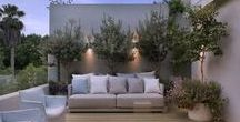 Homes I Roof Terrace Ideas / Ideas for roof terrace. Ibiza villa roof terrace inspiration
