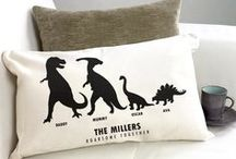 Personalised Printed Cushions / Canvas cushions printed with velvet and glitter textured finishes adding a luxurious look and feel to a cushygift