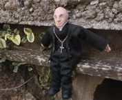 Father Frannie / Cardinal Francis George tribute doll from Fimo DollArt clay