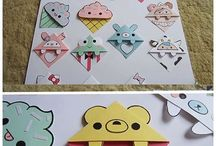 Bookmarks diy / Very Cute bookmarks to make. Do it yourself.