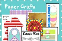 Crafty: Paper Crafts / Printable cut and paste crafts for holidays, birthdays, home decor and gifts. Find die cuts, activity sheets, ideas for unique party favors and kid stuff here plus elegant and thrifty gifts, cards and decorations for family, friends and neighbors.