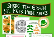 St. Patricks Day Crafts / Fun, festive crafts, decorations and paper printables stuff to make for March 17.