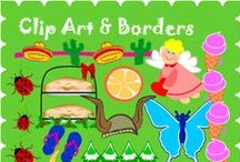 Clip Art : Big Collections of Freebies / Clip art freebies of all types, in large collections with borders, themes, holidays, black and white plus full color free clip art.