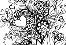 Art done in zentangles / What can you produce from zentangles? Things of beauty / by Melissa Geis