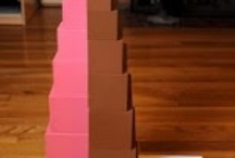 Montessori Pink tower and brown stairs / by Melissa Geis