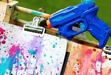 Paint Play for kids / paint activities. paint ideas. painting in different ways.  painting with different things. using paint in play and being creative with paint
