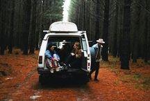 on the road / camper van