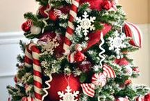 CHRISTMAS TREE THEMES / a different theme for each Christmas tree... / by Eve Malley