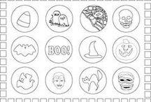 Halloween Printable Worksheets / Learning activity sheets, printables with Halloween themes and pictures.
