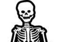 Skulls and Skeletons / Skeletons and skulls art, crafts, design projects.