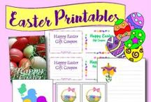 Printables: Easter / Printable greeting cards, decorations, gift tags and paper crafts for Easter, lenten season and spring.