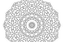 Mandalas / Mandala designs in full color and black and white, ideal for adult coloring, art therapy, home decor and graphic design, relaxation and mystical meditation inspiration.