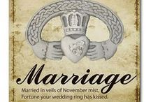 Married in November / Married in veils of November mist, Fortune your wedding ring has kissed