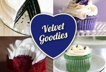 Velvet Goodies / Red velvet cake… Red velvet cookies… Red velvet brownies… Need we say more?