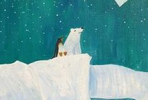 Winter....Arctic & Polar Animals: Penguins, Puffins, Polar Bears, Snowy Owls, etc.