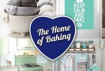 The Home of Baking / Homemade is better! That's why we're pinning dreamy kitchens with loads of light, pastel and vibrant punches of colour. Fun utensils, wall art and like to inspire you to create a great environment for you and your loved ones to get baking.
