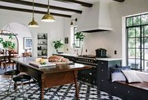 kitchen / Mostly bright and white kitchens. Subway tile galore.  Honestly, I'd be happy with more counter space.