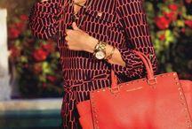 MK Selma Red Studded / Outfits with MK selma studded handbag